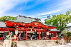 Kobe, Japan - 27. Juni 2017: Ikuta-Schrein in Kobe-Stadt Japan Stockfotografie