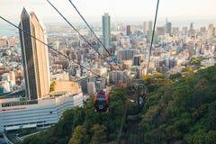 Shin-Kobe Ropeway cable car with city view Stock Photos