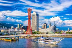 Kobe, Japan Port Skyline. Kobe, Japan skyline at the port and tower Royalty Free Stock Images
