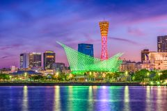 Kobe, Japan Port Skyline Royalty Free Stock Image