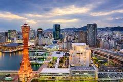 Kobe Japonia linia horyzontu fotografia royalty free