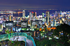 Kobe Japonia pejzaż miejski od Wenus mosta Zdjęcie Royalty Free