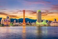 Kobe, Japonia port linia horyzontu obrazy stock