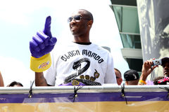 Kobe at Laker Parade Royalty Free Stock Photos