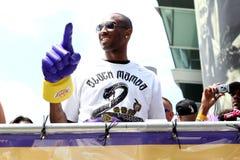 Kobe at Laker Parade royalty free stock photos