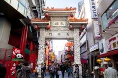 KOBE, LISTOPAD - 25: Brama Chinatown Listopad 25, 2012 w Ko Zdjęcia Royalty Free
