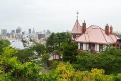 Kobe miasta linia horyzontu w Kitano obraz royalty free