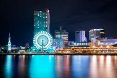Kobe, 23 Nov , noc widok Kobe harborland i kolorowy li Fotografia Royalty Free