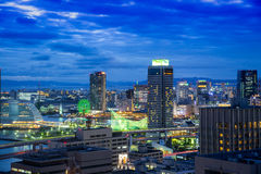 Kobe, 23 Nov., Sunset twilight view cityscape of Kobe bay, Kobe Stock Images
