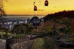 Kobe Nunobiki Herb Garden at sunset Royalty Free Stock Photography
