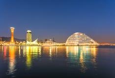 Kobe Panorama View at Night Stock Image