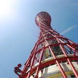 Kobe Port Tower Construction Concept rojo imagen de archivo libre de regalías