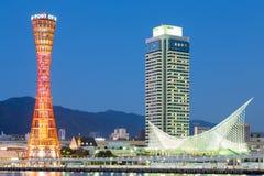 Kobe porttorn på twiligt Arkivbilder