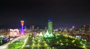 Kobe Seafront Night Royalty Free Stock Image