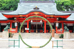 Kobe Shrine. Ikuta shrine in summer (June), the famous shrine in Kobe, Japan Stock Photo