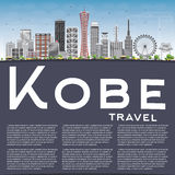 Kobe Skyline with Gray Buildings, Blue Sky and Copy Space. Royalty Free Stock Image