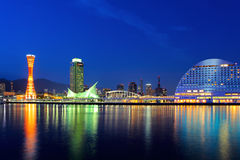 Kobe skyline at night Royalty Free Stock Photo