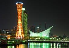 Kobe stad på natten Royaltyfria Bilder