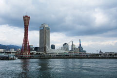 Kobe Tower med molnet Fotografering för Bildbyråer