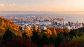 Kobe view from Herb Garden in Autumn Stock Images