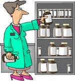 kobieca aptekarza ilustracji