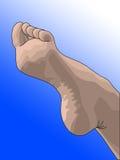 kobieca stopa ilustracja wektor