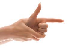kobiece ręce udaje zdjęcia. Zdjęcia Stock