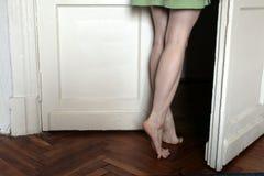 kobiece stopy Fotografia Royalty Free