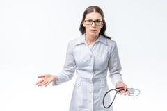 kobiecej doktorskiej ogniska stetoskop selektywne fotografia royalty free