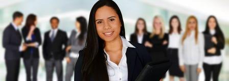 kobieciarz kawowa biznesowej megafonu zespołu Obraz Stock