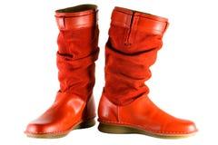 kobiecy czerwone buty. obrazy stock