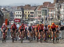 Kobiecy Peloton - wycieczka turysyczna Flandryjski 2019 obraz stock