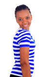 kobiet afrykańscy piękni czarny odosobneni potomstwa Zdjęcia Royalty Free