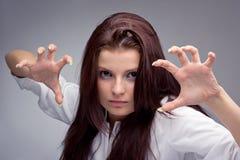 kobiet agresywni potomstwa Zdjęcie Stock