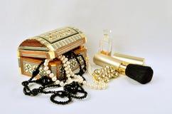 Kobiet biżuteria, pachnidła i kosmetyki, Obraz Royalty Free