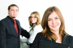 kobiet biznesowi szczęśliwi potomstwa zdjęcie stock
