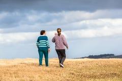 Kobiet Chodzić Bada natura parki Obrazy Royalty Free