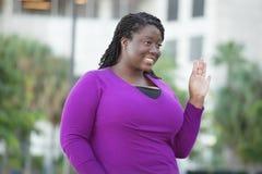kobiet czarny uśmiechnięci potomstwa Zdjęcia Stock