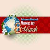 8 kobiet dnia Marcowy Międzynarodowy tło ilustracji