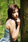 kobiet drzewni potomstwa następna pozycja zdjęcie stock