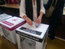 Kobiet głosowania w wybory dniu w Mexico Zdjęcia Stock
