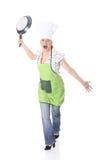 kobiet gniewni kulinarni potomstwa Zdjęcie Royalty Free