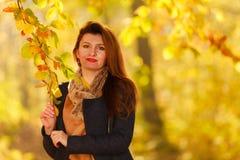 kobiet jesienni parkowi potomstwa Obraz Royalty Free