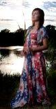 kobiet jeziorni pionowo potomstwa Zdjęcie Stock