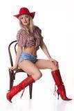 kobiet kapeluszowi czerwoni potomstwa Fotografia Stock
