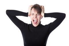 kobiet krzyczący potomstwa Zdjęcia Stock