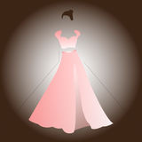 Kobiet menchii sukni bluzki spódnica royalty ilustracja