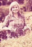 Kobiet ogrodniczy narzędzia zdjęcie royalty free