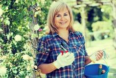 Kobiet ogrodniczy narzędzia zdjęcia stock