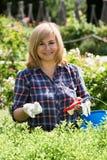 Kobiet ogrodniczy narzędzia fotografia royalty free